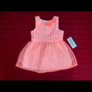 18m Girls' Stripe Pink Dress